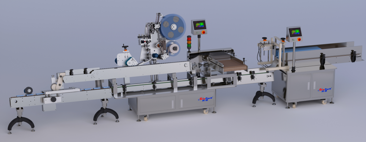 LM-400高速伺服卧式贴标机+入托